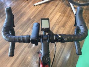自転車のサイクルコンピューターとライトをスマートに見せましょう♪
