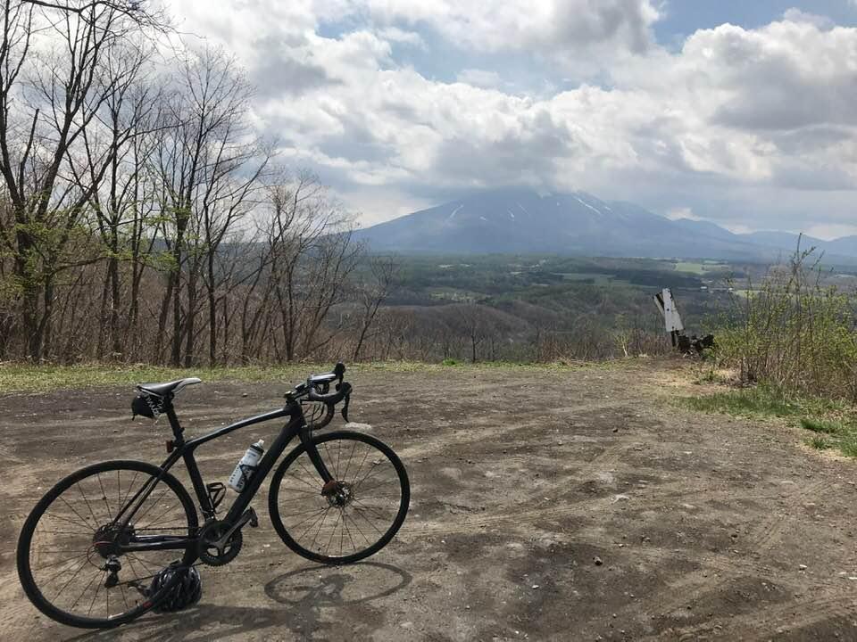 二度上峠から眺める浅間山。